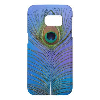 Coque Samsung Galaxy S7 Verticale de plume de paon