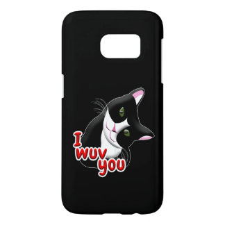 Coque Samsung Galaxy S7 Wuv I vous chat