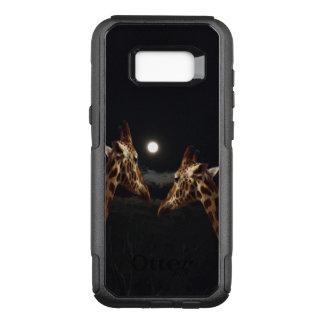 Coque Samsung Galaxy S8+ Par OtterBox Commuter Amour de girafe dans le clair de lune,