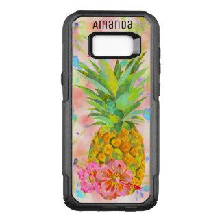 Coque Samsung Galaxy S8+ Par OtterBox Commuter Ananas et ketmie personnalisés d'aquarelle