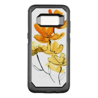 Coque Samsung Galaxy S8 Par OtterBox Commuter Arrière - plan floral abstrait