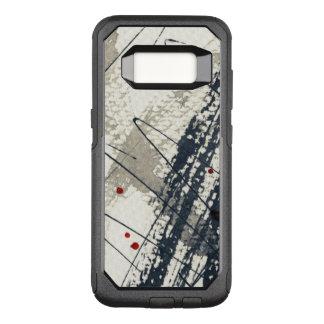 Coque Samsung Galaxy S8 Par OtterBox Commuter Arrière - plan grunge abstrait, texture d'encre. 2