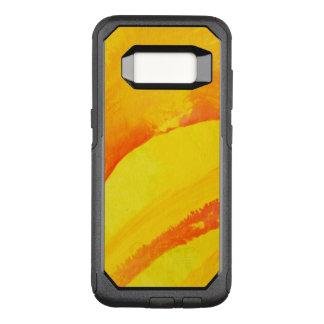 Coque Samsung Galaxy S8 Par OtterBox Commuter arrière - plan jaune. aquarelle sur le papier