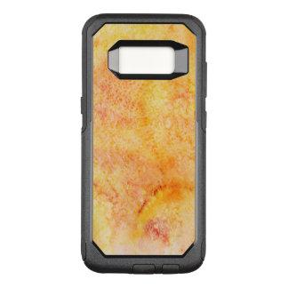 Coque Samsung Galaxy S8 Par OtterBox Commuter Arrière - plan orange d'aquarelle