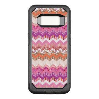 Coque Samsung Galaxy S8 Par OtterBox Commuter Arrière - plan rose de zigzag