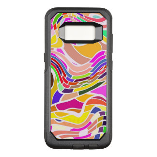 Coque Samsung Galaxy S8 Par OtterBox Commuter Art abstrait coloré, lignes blanches de formes