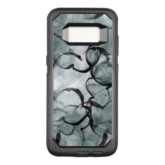 Coque Samsung Galaxy S8 Par OtterBox Commuter avant-garde d'art grise, peinture de main noire