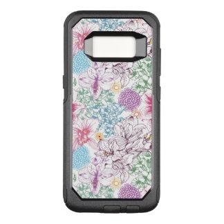 Coque Samsung Galaxy S8 Par OtterBox Commuter Beau motif avec les fleurs colorées