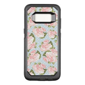 Coque Samsung Galaxy S8 Par OtterBox Commuter Beau motif de rose avec le pois bleu
