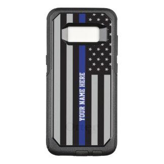 Coque Samsung Galaxy S8 Par OtterBox Commuter Blue Line mince - coutume personnalisée de drapeau