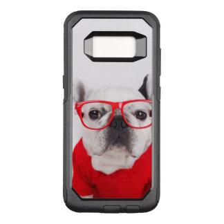 Coque Samsung Galaxy S8 Par OtterBox Commuter Bouledogue français avec les verres et la chemise