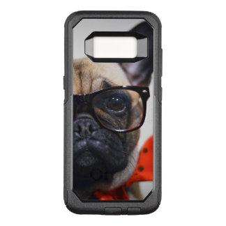 Coque Samsung Galaxy S8 Par OtterBox Commuter Bouledogue français avec les verres et la cravate