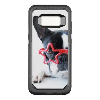 Coque Samsung Galaxy S8 Par OtterBox Commuter Bouledogue français avec les verres rouges