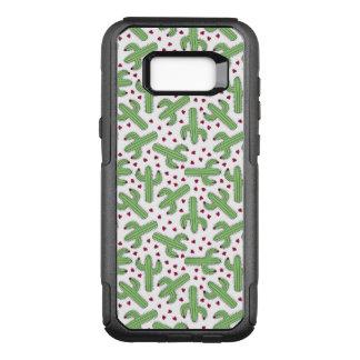 Coque Samsung Galaxy S8+ Par OtterBox Commuter Cactus illustré et motif de fleurs rose