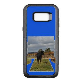 Coque Samsung Galaxy S8+ Par OtterBox Commuter Cadres dimensionnels d'art de vache noire à