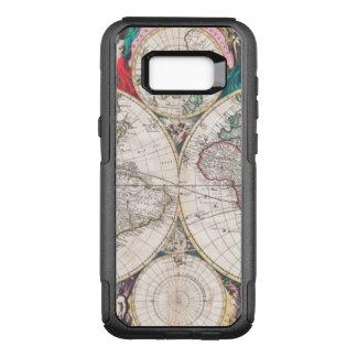Coque Samsung Galaxy S8+ Par OtterBox Commuter Carte antique du monde de Double-Hémisphère