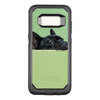 Coque Samsung Galaxy S8 Par OtterBox Commuter Chiot de bouledogue français scrutant au-dessus du