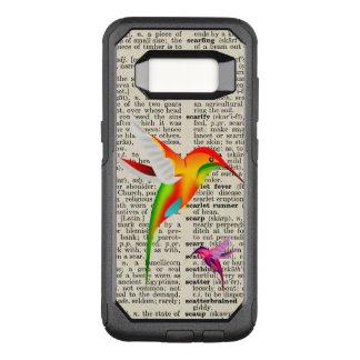 Coque Samsung Galaxy S8 Par OtterBox Commuter Colibris colorés à la page vintage de dictionnaire