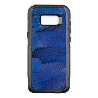Coque Samsung Galaxy S8+ Par OtterBox Commuter Conception bleue de plume d'ara de jacinthe
