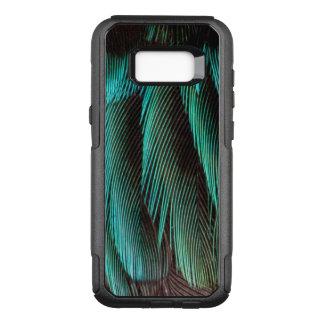 Coque Samsung Galaxy S8+ Par OtterBox Commuter Conception bleue et noire de plume