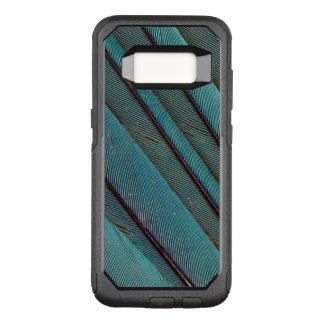 Coque Samsung Galaxy S8 Par OtterBox Commuter Conception de plume de martin-pêcheur de turquoise