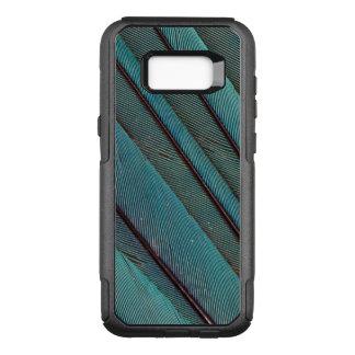Coque Samsung Galaxy S8+ Par OtterBox Commuter Conception de plume de martin-pêcheur de turquoise