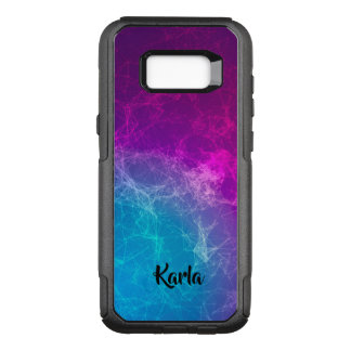 Coque Samsung Galaxy S8+ Par OtterBox Commuter Conception moderne pourpre et bleue polygonale