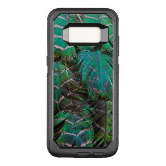 Coque Samsung Galaxy S8 Par OtterBox Commuter Conception verte de plume de paon