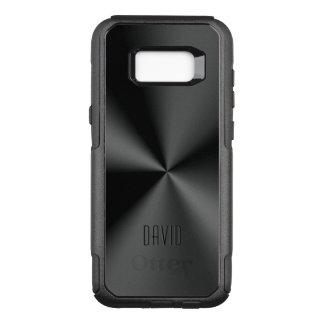 Coque Samsung Galaxy S8+ Par OtterBox Commuter Copie brillante noire métallique d'acier