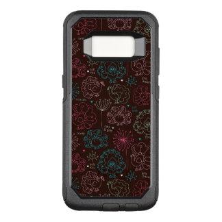 Coque Samsung Galaxy S8 Par OtterBox Commuter cru de papier peint de l'Inde de fleur de paon