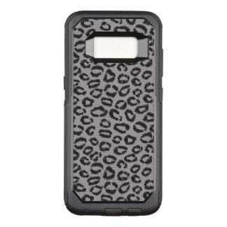 Coque Samsung Galaxy S8 Par OtterBox Commuter Dentelle nette noire avec le motif de léopard sur