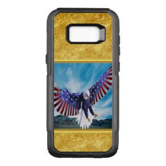 Coque Samsung Galaxy S8+ Par OtterBox Commuter Drapeau américain Eagle volant dans la feuille