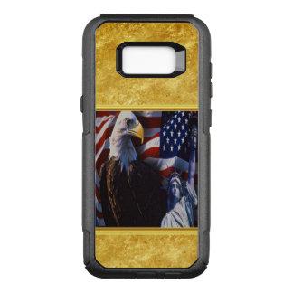 Coque Samsung Galaxy S8+ Par OtterBox Commuter Eagle chauve une statue de la liberté un drapeau
