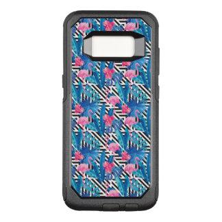 Coque Samsung Galaxy S8 Par OtterBox Commuter Flamant et paumes sur le motif géométrique