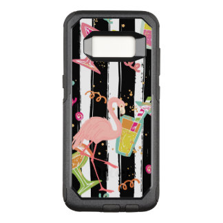 Coque Samsung Galaxy S8 Par OtterBox Commuter Flamant tropical d'amusement de partie