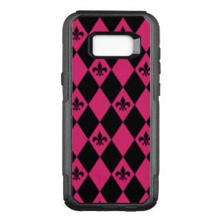 Coque Samsung Galaxy S8+ Par OtterBox Commuter Fleur De Lis et motif rose de diamant noir
