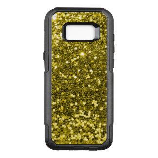 Coque Samsung Galaxy S8+ Par OtterBox Commuter Jaune fascinant de scintillement de Faux d'or