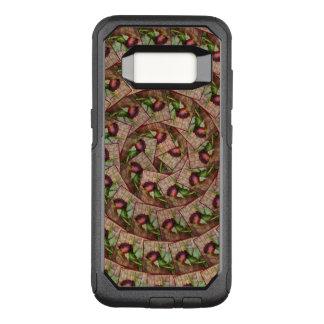 Coque Samsung Galaxy S8 Par OtterBox Commuter La grunge texturisée rouge rustique en spirale