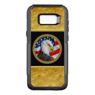 Coque Samsung Galaxy S8+ Par OtterBox Commuter Le chef d'Eagle et une feuille d'or de drapeau