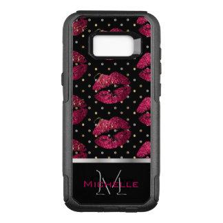 Coque Samsung Galaxy S8+ Par OtterBox Commuter Lèvres de roses indien de monogramme