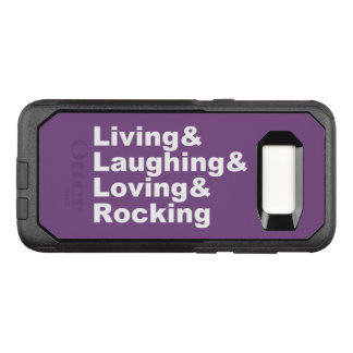 Coque Samsung Galaxy S8 Par OtterBox Commuter Living&Laughing&Loving&ROCKING (blanc)