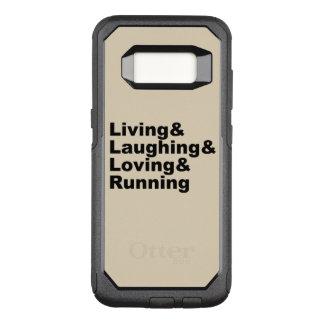 Coque Samsung Galaxy S8 Par OtterBox Commuter Living&Laughing&Loving&RUNNING (noir)