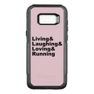Coque Samsung Galaxy S8+ Par OtterBox Commuter Living&Laughing&Loving&RUNNING (noir)