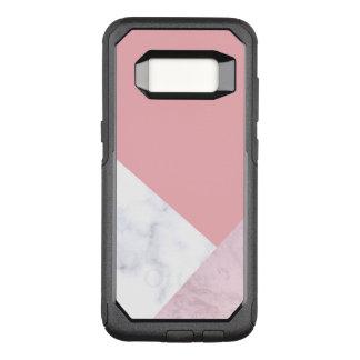 Coque Samsung Galaxy S8 Par OtterBox Commuter marbre blanc de rose en pastel de poussin élégant