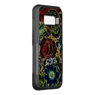 Coque Samsung Galaxy S8+ Par OtterBox Commuter Marguerites et roses bordés rougeoyants colorés