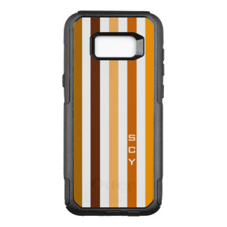 Coque Samsung Galaxy S8+ Par OtterBox Commuter Monogramme orange bronzage de rayures verticales