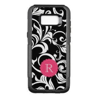 Coque Samsung Galaxy S8+ Par OtterBox Commuter Monogramme rose noir mignon de remous de papier