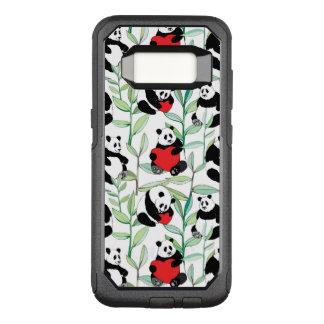 Coque Samsung Galaxy S8 Par OtterBox Commuter motif avec de beaux pandas avec des coeurs