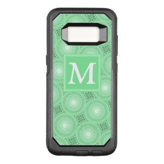 Coque Samsung Galaxy S8 Par OtterBox Commuter Motif de cercles de vert de ressort de monogramme