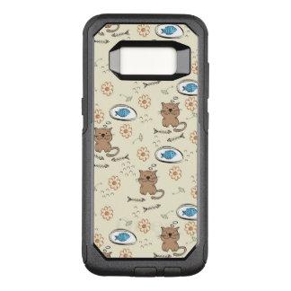 Coque Samsung Galaxy S8 Par OtterBox Commuter motif de chat et de poissons